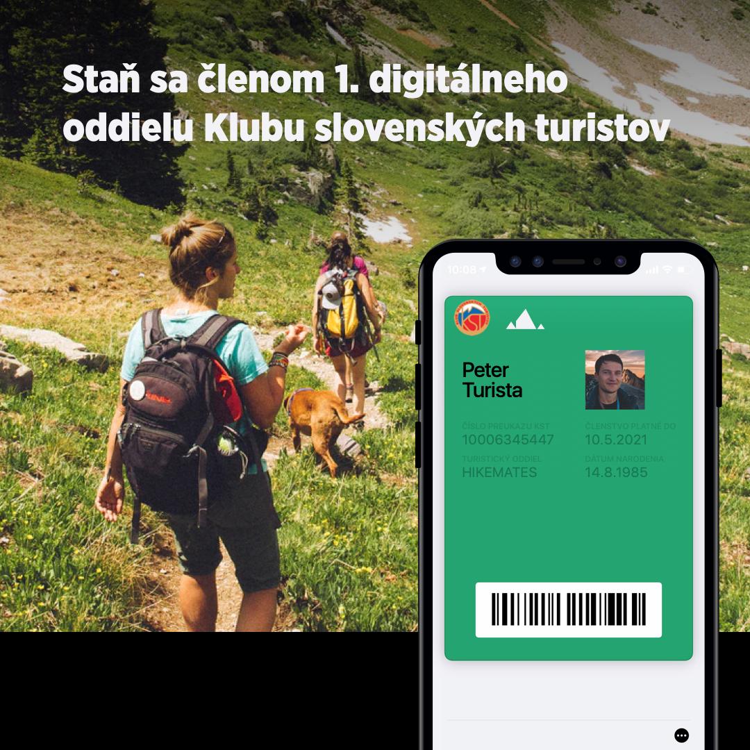 iWatt členstvo v 1. digitálnom oddieli Klubu slovenských turistov s doplatkom